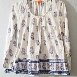 Pasely print top joe fresh